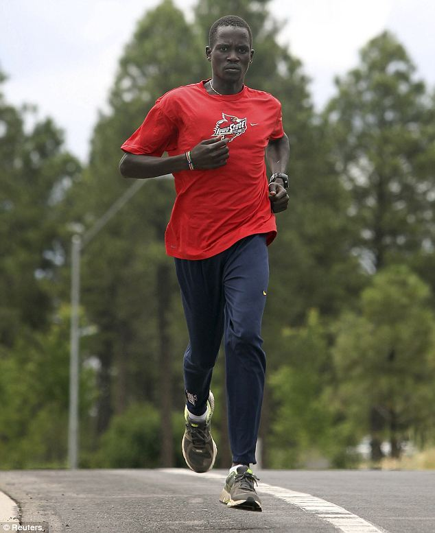 'Voice heard': Marial, who was born in what is now South Sudan, a newly independent African country that doesn't yet have a national Olympic body, was one of four competitors let in at the London Games