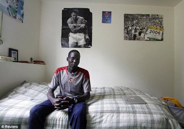 'Amazing': Marial's heartwarming rise from a fearful kid who hid in a cave, fled his war-torn homeland and finally arrived in the U.S. as a refugee took another incredible turn on Saturday with his Olympic opportunity