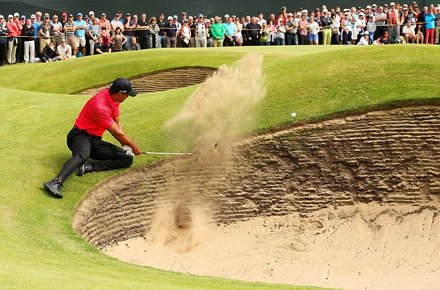 Poor finish: Tiger Woods played badly on final day