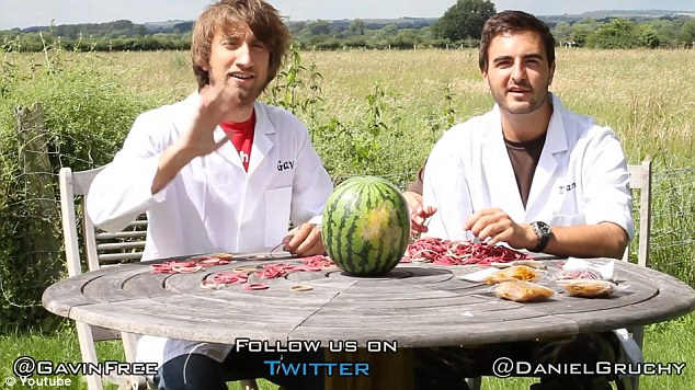 Hello! These are our two hosts, Gavin Free and Daniel Gruchy, and they are about to get very red-faced