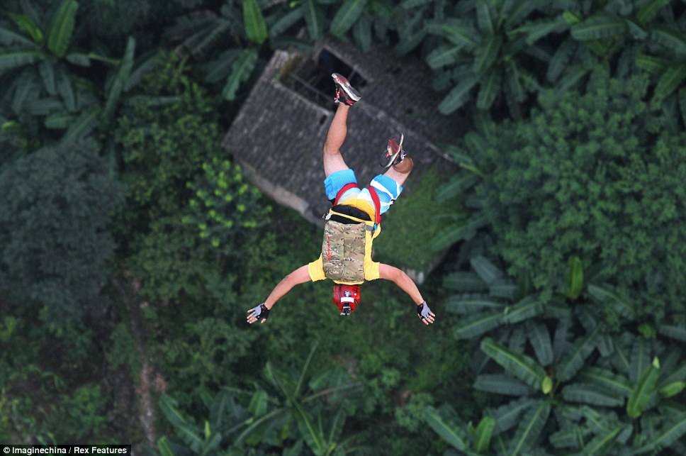 Difficult: In BASE jumping participants just about five seconds to get their packs open and unravel their parachutes
