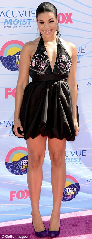 Short and sweet: Jordin Sparks (L) and Miranda Cosgrove also decided to show off their slender pins