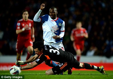 Rover and out: Junior Hoilett (centre) is set to leave Blackburn for QPR