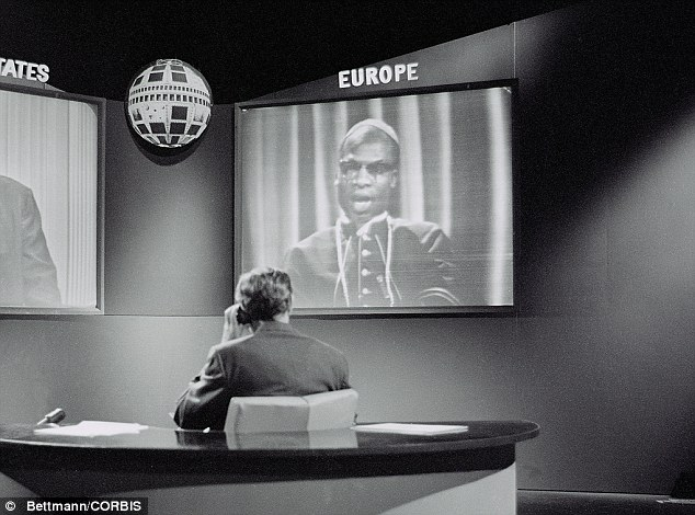 The first transatlantic face-to-face television broadcast from Europe to the U.S. takes place on October 15, 1963. They are discussing 'The Christian Revolution'