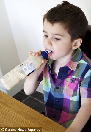The youngster from Nottingham, has a phobia of eating and drinking after a bad case of acid reflux as a baby