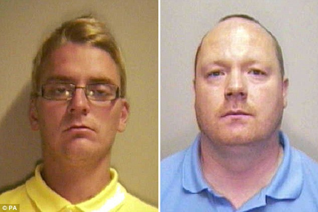Kelvin Dale (left) and Stephen Shreeves (right) were both found guilty of the murder of Clifford Collinge at Nottingham Crown Court