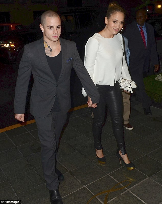 Party time! Jennifer Lopez began celebrations for her 43rd birthday as she headed out for dinner in New York last night with boyfriend Casper Smart