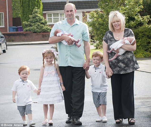 The wonders of modern science: The Fardelin family includes five children born through IVF from the same batch of eggs