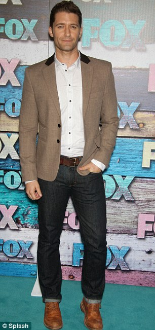 Suited and booted: Darren Criss and held their own for the Fox boys