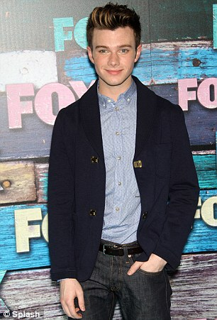 Clean cut: Chris Colfer and Chord Overstreet looked smooth