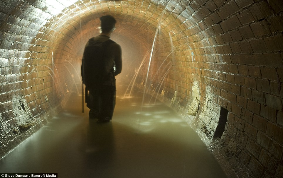 A sewer under London Bridge: London had many smaller rivers flowing into the Thames, which was a big reason why city developed historically at that location