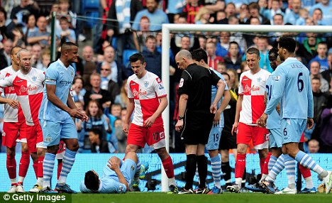 Shocking: Barton will serve a 12-match ban after his behaviour at the Etihad