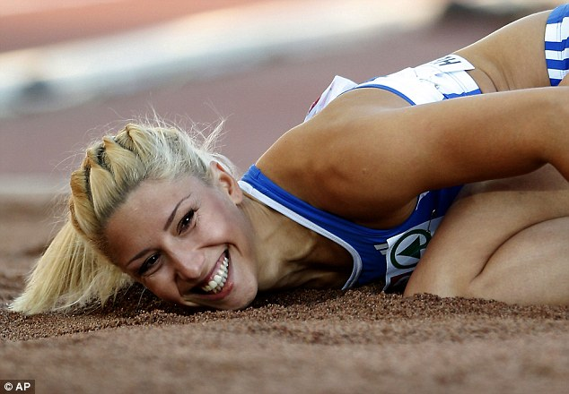 Greek triple jumper Voula Papachristou, who has been dropped from the country's Olympic squad, for posting a racist message on Twitter