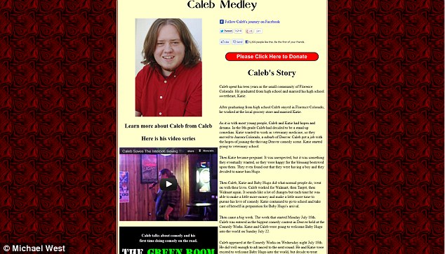 Through this website set up by his friend Michael West, $186,000 has been raised towards paying for Caleb Medley's medical bills