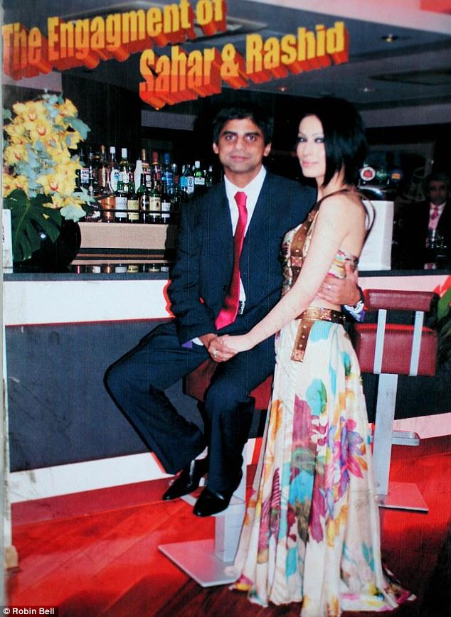 Sahar Daftary and Rashid Jamil on their wedding dvd cover in December 2007