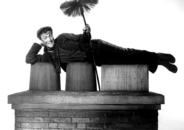 Legendary: Dick Van Dyke's accent for 1964's 'Mary Poppins' has become almost as famous for being awful as the film is good