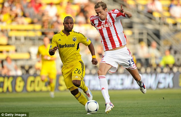 Fitness factor: Tony Pulis insisted the result was not important as Crouch and co failed to beat Columbus