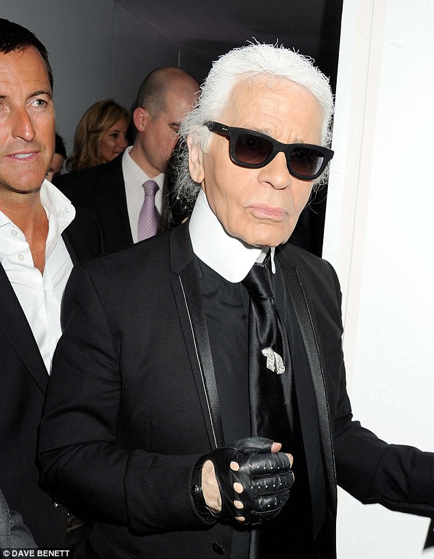 Karl is in the house: Lagerfeld made an appearance at Selfridges last night to launch three lines into the store - including an Olympic-inspired collection called Team Karl