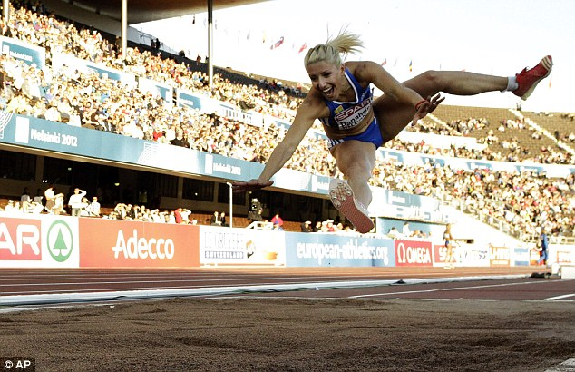 Voula Papachristou in action at the European Athletics Championships in Helsinki earlier this year