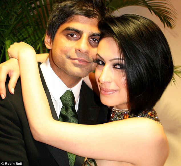 Lovers: Rashid Jamil and Sahar Daftary. He told police that catwalk model Miss Daftary jumped from his balcony after he refused to leave his wife
