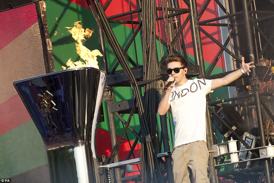 Nathan Sykes of The Wanted performs at the Olympic Torch Relay concert in Hyde Park, London