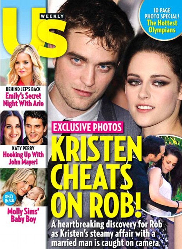 Us Weekly first published pictures of Kristen and Rupert in an intimate series of embraces