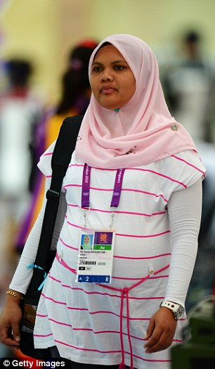 Nur Suryani Mohamed Taibi of Malaysia, who will be competing in the Olympic rifle shooting in London at 34 weeks pregnant