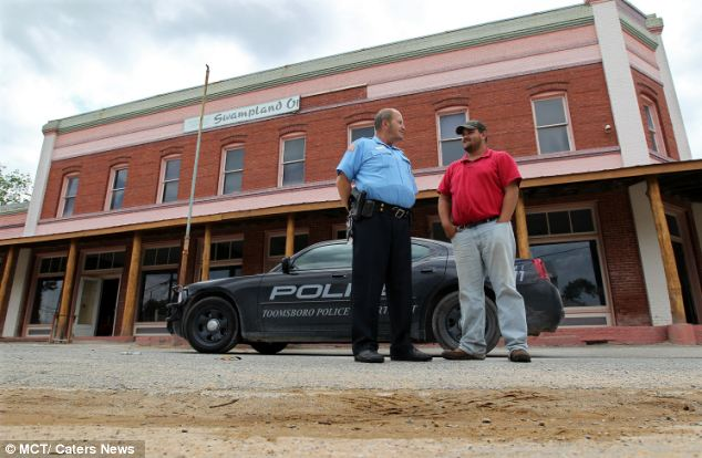 Desertion: It was when the old bank, pictured, closed and businesses moved out of Toomsboro that the community fell on hard times