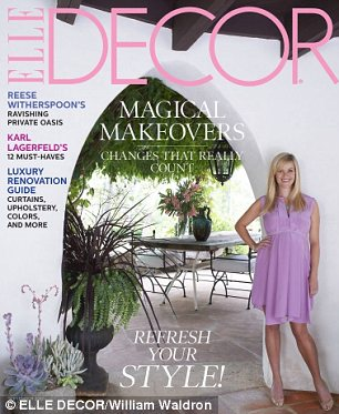 Opening the doors:  Reese showed off the property in the September 2012 issue of ELLE Decor