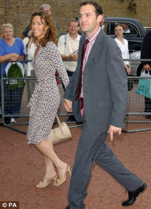 TV and radio presenter Johnny Vaughan and his wife Antonia arrive for The Prince's Trust reception in 2004