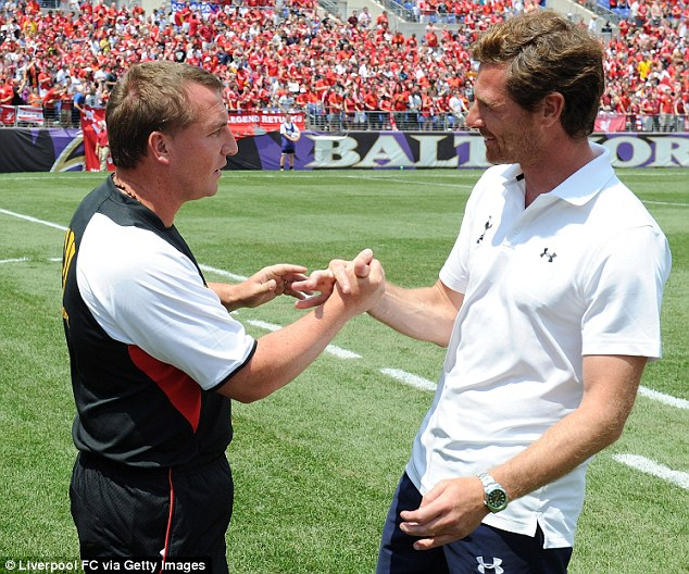 Fancy seeing you here: Brendan Rodgers and Andre Villas-Boas
