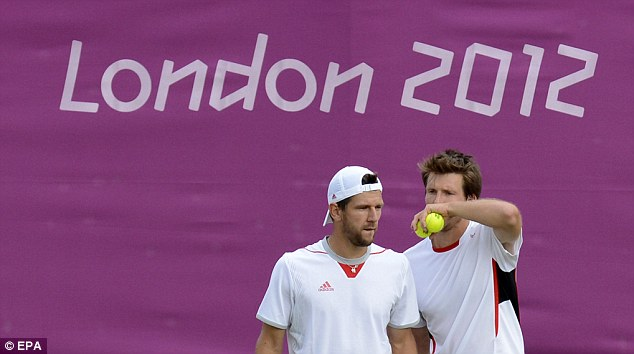 Determined duo: Austrian pair Jurgen Melzer (left) and Alexander Peya