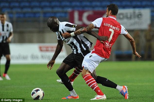 On target: Demba Ba opened the scoring