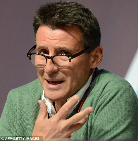 Embarrassing: Lord Coe revealed that tickets had been offered to students and teachers from London schools