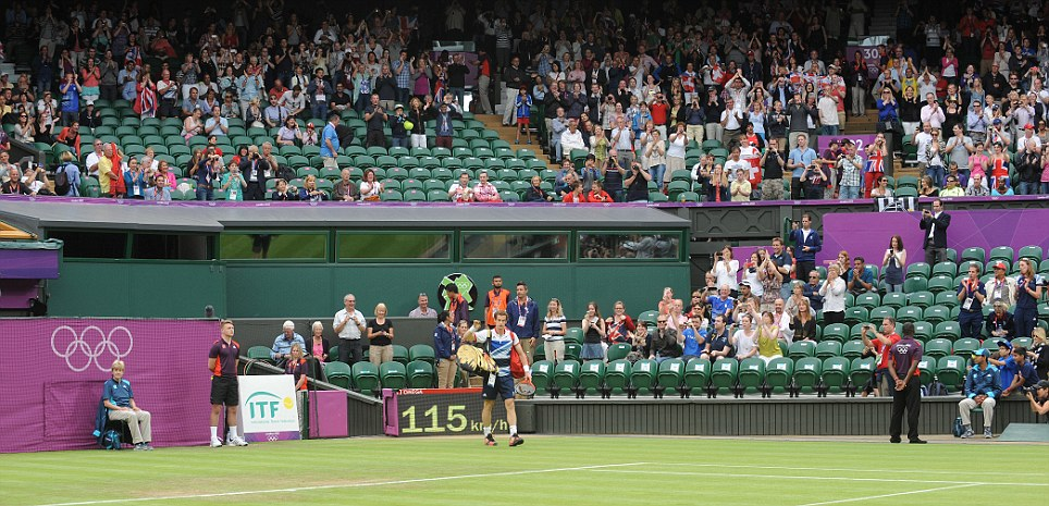 Wimbledon: There were even plenty of spare seats for Andy Murray's winning match yesterday