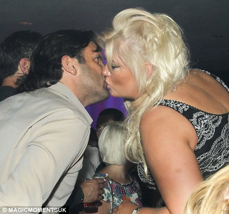 What will Arg say: Gemma was seen kissing a man in a nightclub on Saturday but the pair seem to trying to work things out