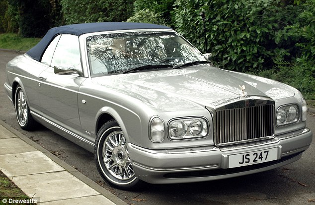 Savile's Rolls-Royce Corniche which he nicknamed 'The Beast' sold for £130,000 at a charity auction in Leeds - raising £320,000 in 2012