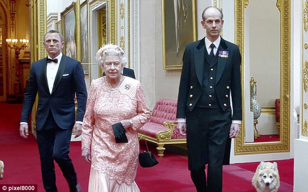 Humiliating: The Queen had taken part in a short film with James Bond actor Daniel Craig