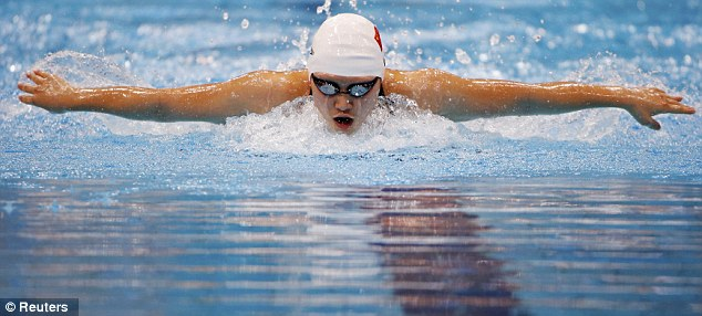 Unstoppable: China's Ye Shiwen eases to first place finish during heats for the 200m individual medley