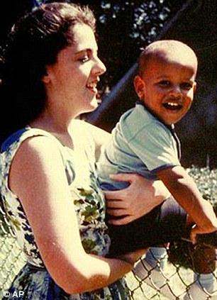 Obama and his mother Ann Dunham