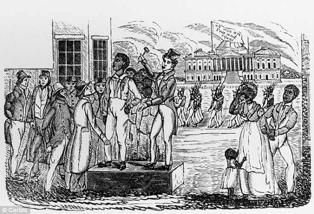 Before the slave trade: Obama's ancestor John Punch was condemned to a life of slavery in 1640 for escaping a home where he worked as a servant. The sentence made him America's first slave (file picture)
