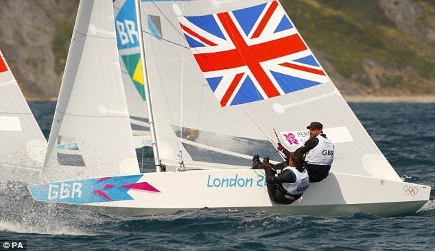 Strong display: Percy and Simpson racing in their Star class keel-boat