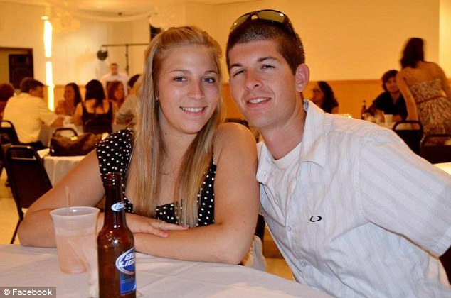 Shocked: Ms Ladd's boyfriend Dylan Tibbetts, pictured right, wrote a heartbreaking tribute to his girlfriend on Facebook