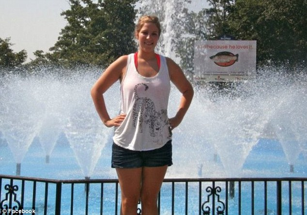 Senior: Ms Ladd, 22, pictured, was majoring in psychology with a business admin minor