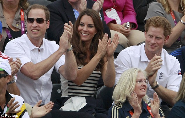 Proud of you cousin: The Royals cheers on their cousin as her mistake goes unpunished and Team GB take silver