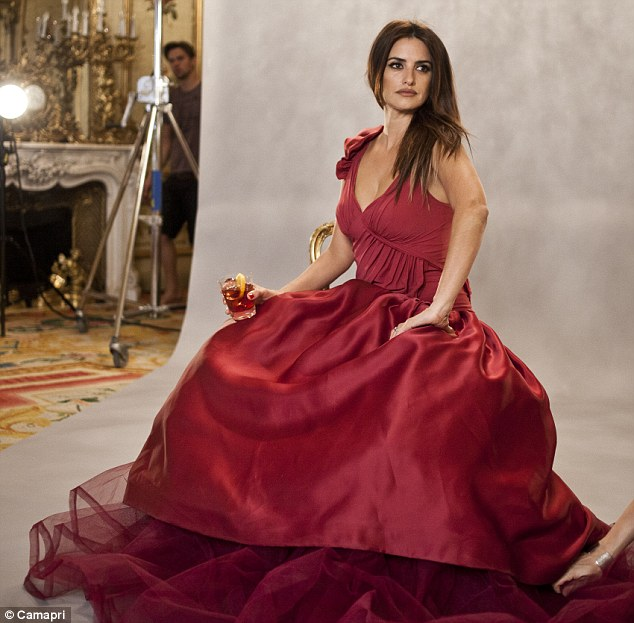 Leading lady: Penelope Cruz has been announced as the face of Campari's 2013 calendar