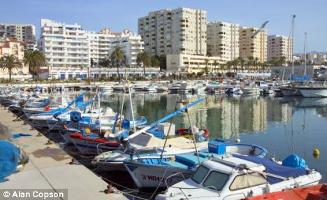 Never made it: Mr Ward's UK-registered yacht was believed to be heading to the harbourside town of Estepona before he was caught