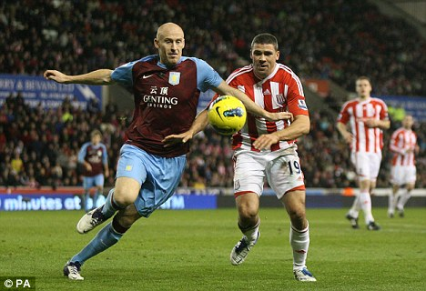 Old boy: Centre back James Collins (left) is nearing a return to West Ham