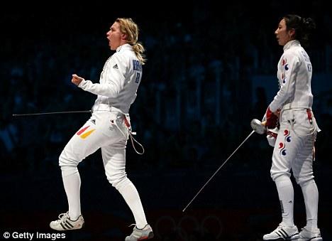 Confusion: Heidemann (left) celebrates