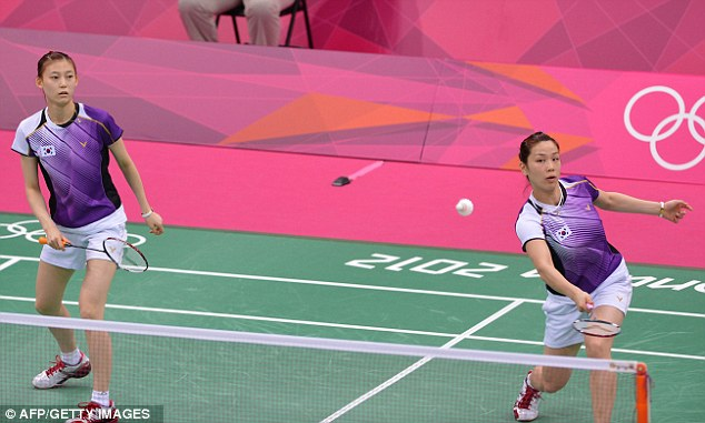 Victors: Kim Ha Na (left) and Jung Kyung Eun (right) eventually won, despite their best efforts